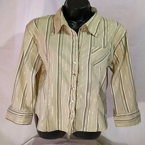 Voice Stretch Snap Down Blouse